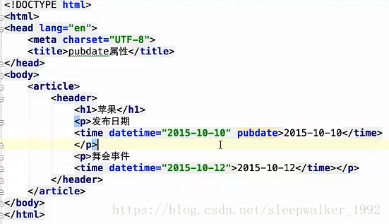 HTML5 新增的主体结构元素