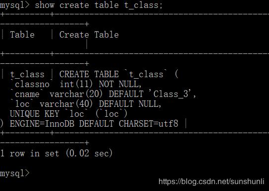 MySQL基础之表操作